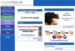 Jedna z prvých verzii našej stránky v roku 2007
