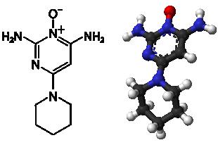 Molekula minoxidilu