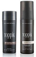 Zahusťovač vlasov Toppik a sprej Toppik Fiberhold